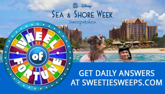 Wheel Of Fortune Sea And Shore Week Sweepstakes