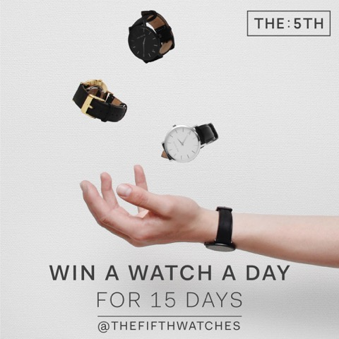 THE: 5TH Win A Watch A Day Giveaway