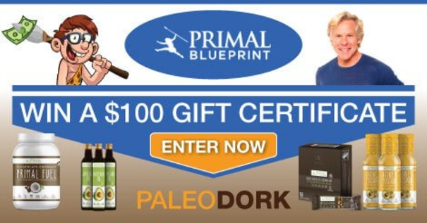 Primal Blueprint Gift Certificate Giveaway