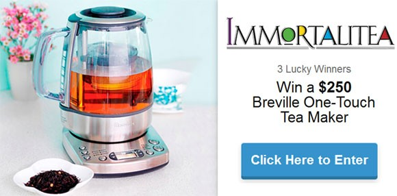Immortalitea Breville One-Touch Tea Maker Giveaway