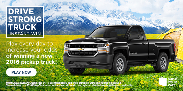 Shop Your Way Drive Strong Truck Sweepstakes