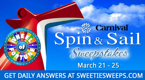 Wheel Of Fortune Carnival Spin & Sail Sweepstakes Daily Answers