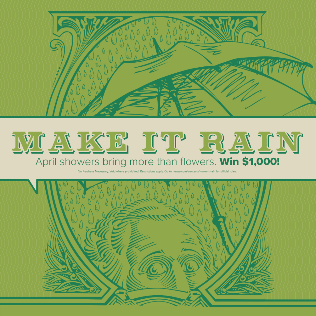 Newsy Win $1,000 and Make It Rain Sweepstakes