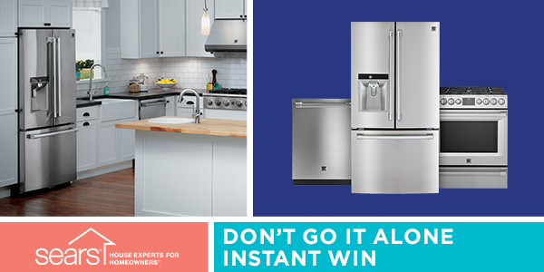 Shop Your Way Sears Don't Go It Alone Instant Win Game