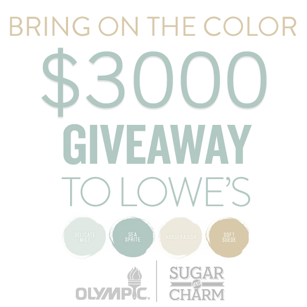 Sugar and Charm $3,000 Lowes Gift Card Giveaway