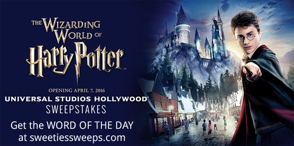Extra TV Wizarding World of Harry Potter Universal Studios Hollywood Sweepstakes Word Of The Day