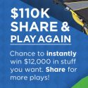 SWEETIES PICK! Shop Your Way May $110k Share & Play Again Instant Win Game 5/31/16 1PP18+