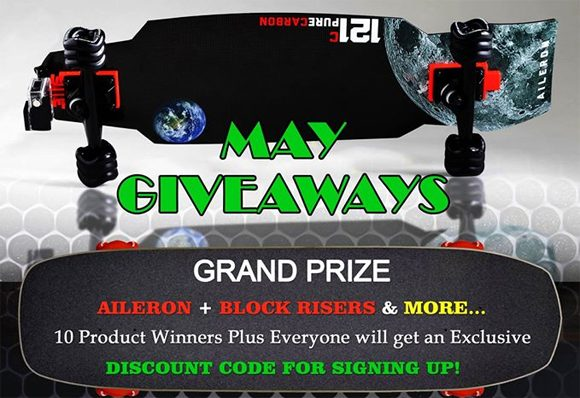 SharkWheel Carbon Fiber Skateboard Giveaway