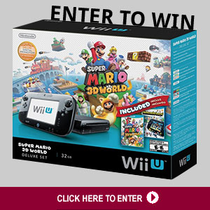 Click Here to Win a Super Mario 3D World Gaming System