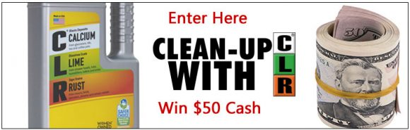 Jelmar.com Clean-up with CLR Cash Giveaway