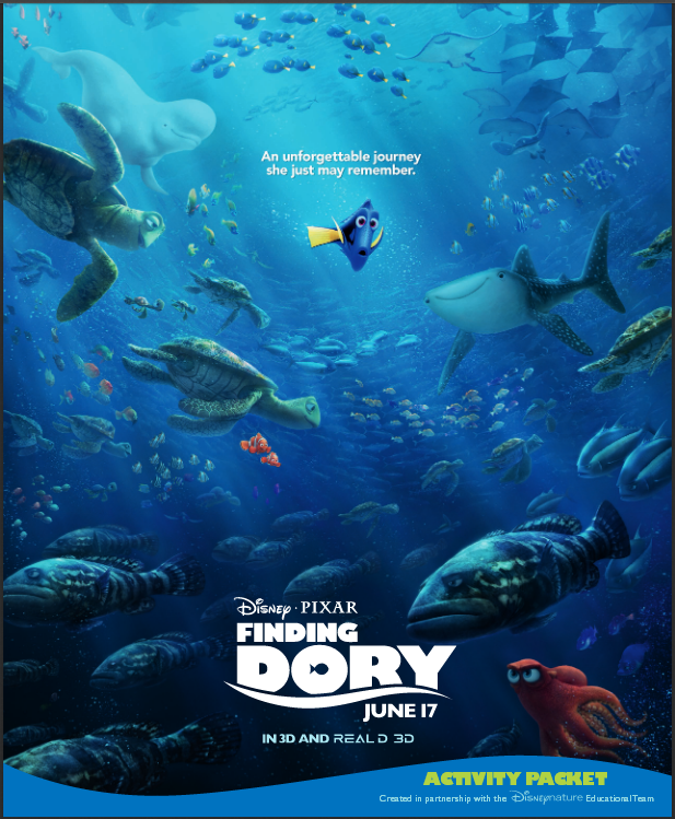 Free Finding Dory Activity and Educational Book