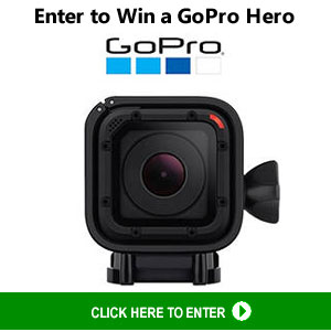 Enter To Win A GoPro HERO Session with Remote, Memory Card, and Carrying Case