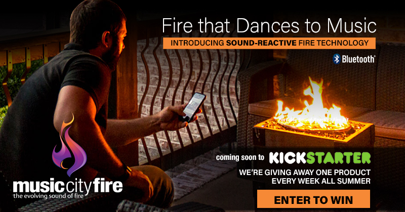 Music City Fire Company Sound-Reactive Fire Pit Giveaway
