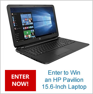 Click Here to Win an HP Pavilion Laptop. One per person. Ends August 31