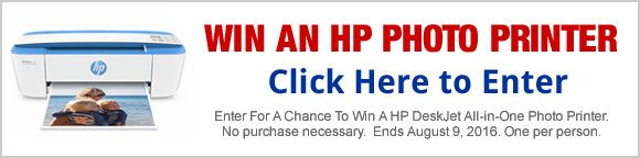 Win an HP DeskJet All-in-One Photo Printer