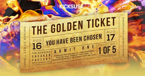 Kicks USA Golden Ticket Giveaway - Win Free Sneakers for a Year