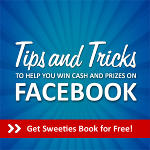 Learn how to win cash and prizes on Facebook with Sweeties Free Facebook Sweeps Book