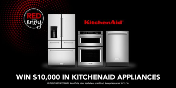 Shop Your Way KitchenAid Red With Envy $11,000 Sweepstakes