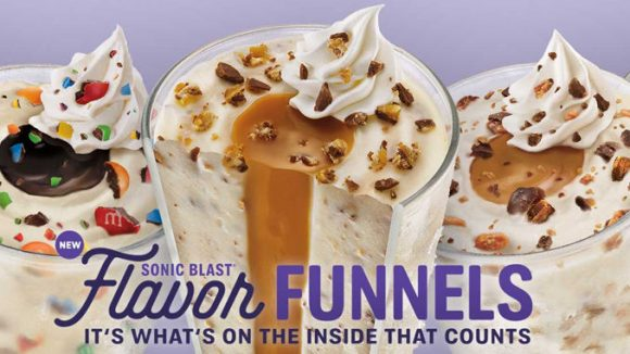 Sonic Launches New Sonic Blast Flavor Funnels