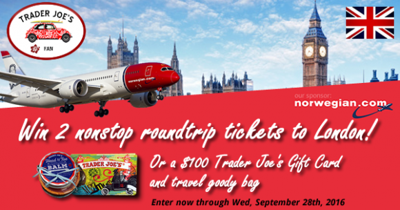 Trader Joes Fan's London Calling Sweepstakes
