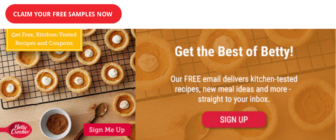 Free Betty Crocker Samples and Coupons