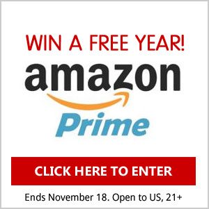 Enter for a chance to win 1 Free Year of Amazon Prime! Drawing November 18th