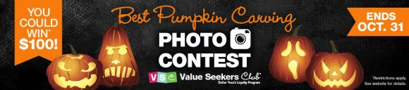 Dollar Tree Value Seekers Club Best Pumpkin Carving Photo Contest