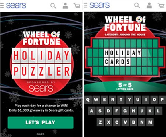DAILY PRIZES! Sears Wheel of Fortune Holiday Puzzler Sweepstakes Daily Answers