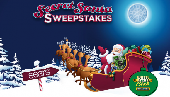 Wheel of Fortune Secret Santa SPIN ID Sweepstakes