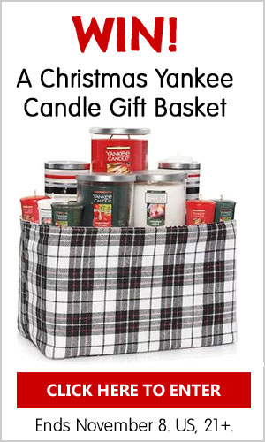 Click Here to enter to win a Christmas Scented Yankee Candle Gift Basket. US, 21+ Ends Nov 18