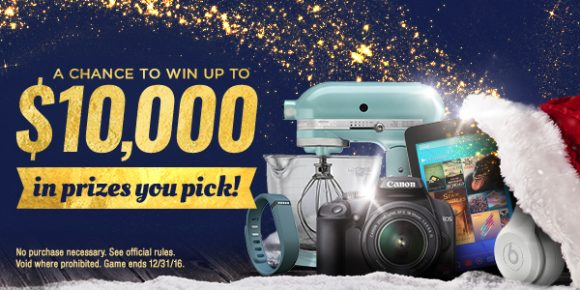 Shop Your Way $10,000 Basket of Presents Instant Win Game