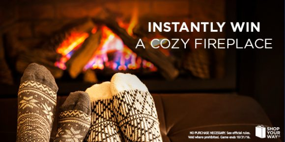 Shop Your Way Fireplace I Desire Instant Win Game