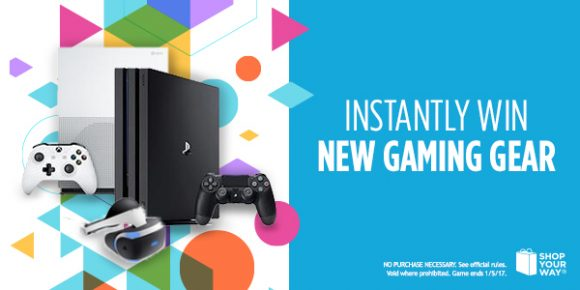 Shop Your Way Your New Gaming Gear Instant Win Game