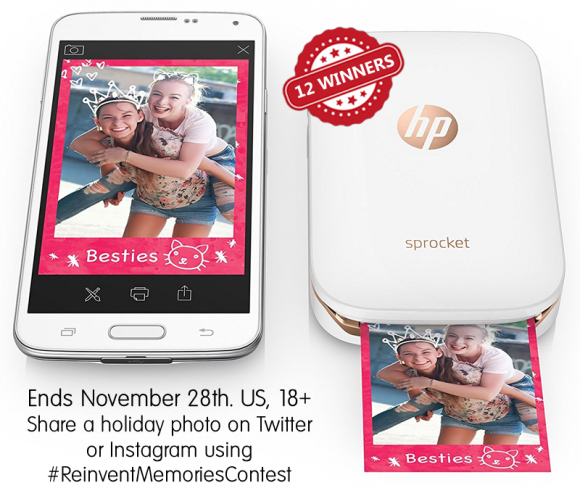 HP Season of Sprocket Giveaway #ReinventMemoriesContest