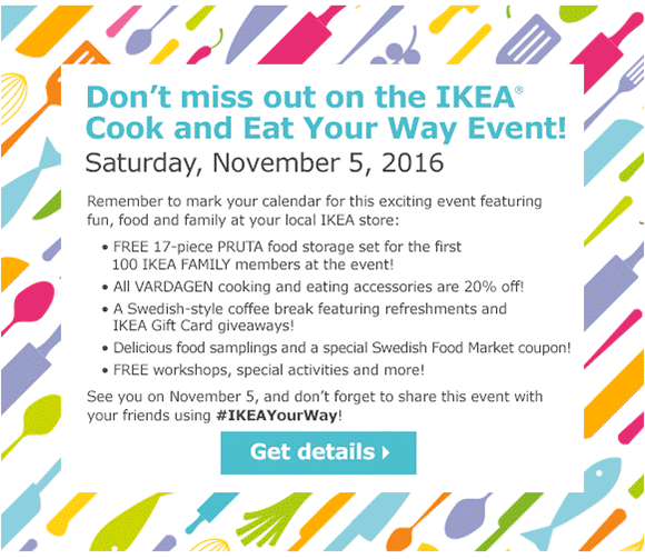 IKEA Cook Your Way Event, Sweepstakes, Freebies, Coupons, Giveaways