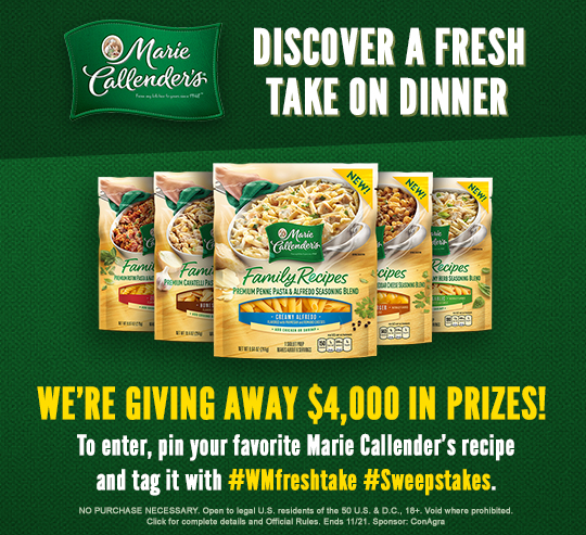 callenders discover a fresh take on dinner sweepstakes 500 prizes 11 21 16 1ppd18