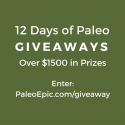 PaleoEpic's 12 Days of Paleo Christmas Giveaways Event 12/26/16