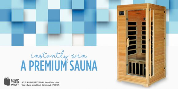 Shop Your Way Radiant Sauna Instant Win Game