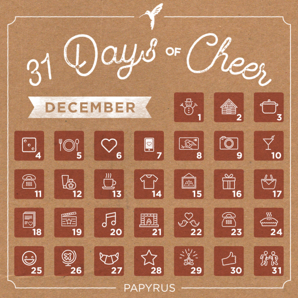31 Days of Cheer Gift PAPYRUS Gift Card Giveaway