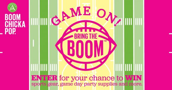 Enter Angie's Boomchickapop Game On Bring the BOOM Sweepstakes to win awesome Game Day prizes like sports gear, game day party supplies and more!
