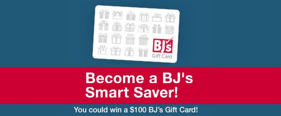 BJ's Smart Saver $100 Gift Card Giveaway