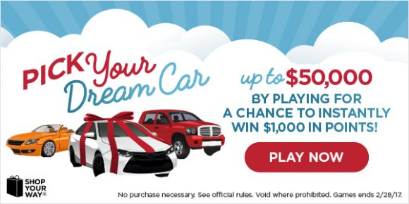 Shop Your Way $50,000 Pick Your Dream Car Sweepstakes