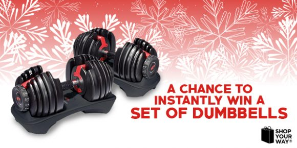 Shop Your Way Jingle Bells Dumbbells Instant Win Game
