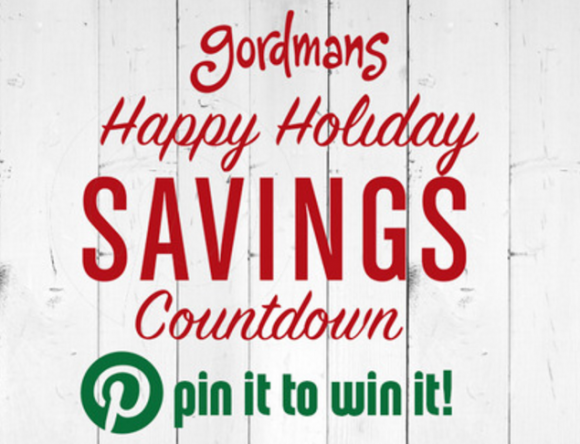 Gordmans Happy Holiday Savings Countdown Pin It To Win It Contest