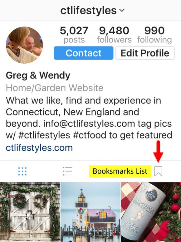 How to Add a Bookmark and Find the Instagram Bookmarks List