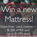 Sleepopolis Leesa Mattress + $1,000 AMEX Card Giveaway 12/25/16 1PP18+