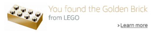 LEGO Golden Brick Location on Amazon