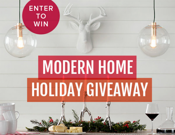 Modern Holiday Home $2,300 Giveaway Sweepstakes