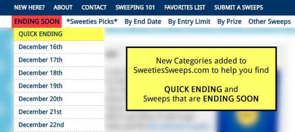 Quick Ending Sweepstakes