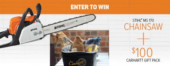 STIHL Chainsaw & $100 Carhartt Gift Pack Giveaway